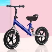 创意新款童车儿童平衡车女无脚踏1-2-3-6岁小孩滑行车滑步车宝宝双轮自行车 减震款充气一体轮蓝色 适合100-130