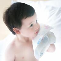 三利 纯棉高密度纱布儿童毛巾2条装 A类安全标准婴幼儿用品 宝宝面巾洗脸巾 25×50cm
