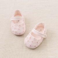 戴维贝拉春季新款婴儿鞋 女宝宝软底步前鞋DB6037