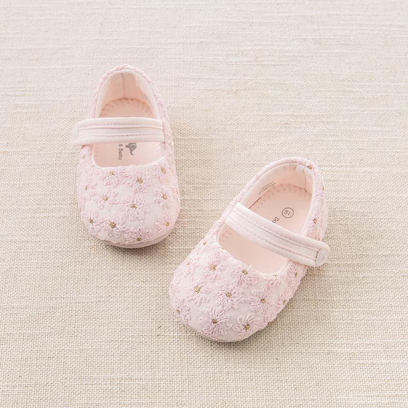 戴维贝拉春季新款婴儿鞋 女宝宝软底步前鞋DB6037 戴维贝拉 每周二上新  0-6岁品质童装