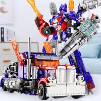 变形玩具金刚5模型汽车机器人大黄蜂电影手办合金版儿童男孩