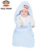PWA1743049大嘴猴(Paul Frank) 婴幼儿抱被 春秋宝宝新生儿纯棉花纱包被 80x80cm