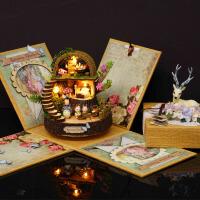 智趣屋diy小屋手工房子奇幻森林音乐盒八音盒创意生日礼物
