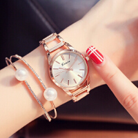 艾奇 金米欧石英表镂空链条防水指针式女生气质学生手表女士手表