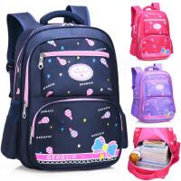 小学生书包女1-2-3-6一年级女孩女童女生减负防水韩版儿童双肩包