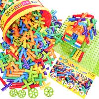 水管道积木拼装插3-6周岁男孩宝宝儿童幼儿园女孩4-7智力玩具