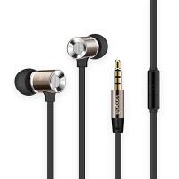 耳机入耳式 通用重低音金属面条有线控手机笔记本耳塞带麦