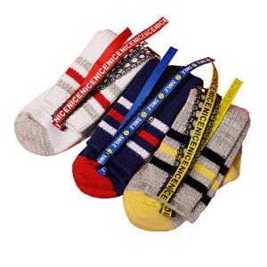 kk树儿童袜子纯棉保暖1-3岁宝宝长筒袜秋冬女童7-9岁防滑公主童袜