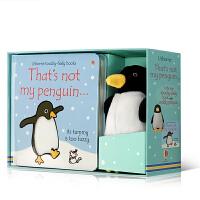 英文原版 That's not my penguin soft toy 那不是我的企鹅纸板触摸书盒装附毛绒玩具 Usb