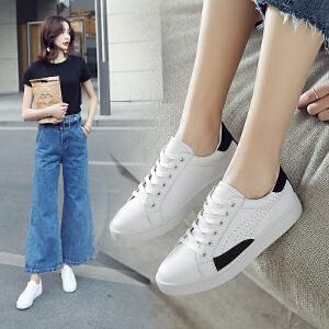 ZHR2018新款韩版百搭小白鞋平底运动鞋休闲鞋zipper鞋子单鞋女鞋B81