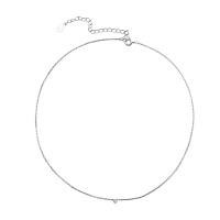 S925银项链日韩版颈链女短款锁骨链简约韩国学生气质个性银饰品
