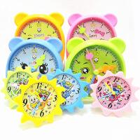 卡通儿童认知教宝宝认时间学习幼儿园小学生生日礼物认钟表早教时钟