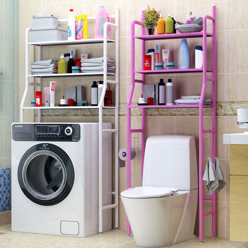 幽咸家居层架置物架 浴室厕所卫生间马桶置物架 洗衣机收纳架三层落地