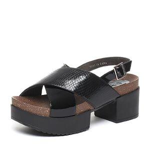 BASTO/百思图夏季专柜同款牛皮时尚休闲女凉鞋TY401BL6