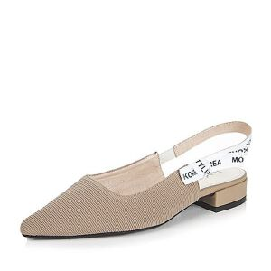 BASTO/百思图2017新款夏季布面字母尖头粗中跟女凉鞋9062DBH7