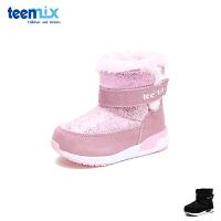 【2件3折后到手价:126.9元】天美意teenmix童鞋18冬季新款婴幼童雪地靴儿童潮流炫丽靴子宝宝户外鞋加绒保暖亲