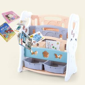 门扉 收纳架 多功能儿童塑料玩具收纳架宝宝玩具盒幼儿园儿童书架