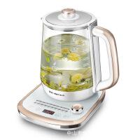 金正 N6养生壶高硼硅玻璃旋钮式煮茶壶304不锈钢发热盘零硅胶接触
