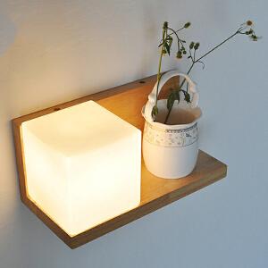 【每满100-50】创意木灯 木艺楼梯 玄关过道灯 卧室床头灯 玻璃实木壁灯YX-LMD-0125