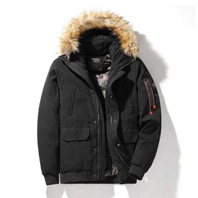 男士棉服外套2019冬季新款韩版潮流大毛领棉袄加厚冬装棉衣防寒服