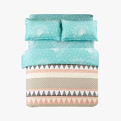 当当优品四件套高支高密纯棉双人床单款床品1.5-1.8米适用 波点生活当当自营
