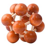 儿童玩具孔明锁木制太空球解锁玩具解锁孔明锁球