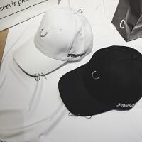 韩国风金属环扣设计简约百搭情侣棒球帽男女帽子棒球帽权志龙帽子