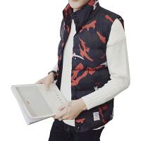 棉马甲男秋冬季韩版潮流迷彩马夹加厚保暖背心帅气外套男士坎肩