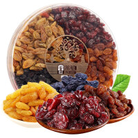 臻味坚果礼盒大礼包金提干蔓越莓黑加仑果干年货礼盒环球圆满500g