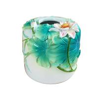 创意荷叶纸巾盒客厅纸巾抽茶几纸巾桶抽纸盒餐