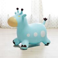 跳跳马儿童充气玩具跳跳马加大加厚气马坐骑皮马橡胶宝宝木马����同款