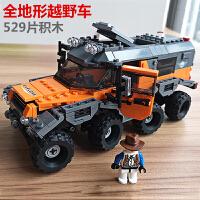 积木拼装玩具兼容乐高成年高难度汽车大人越野车益智力男孩子模型