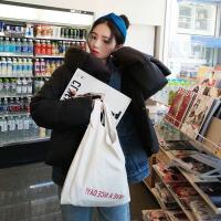 包包女包包女chic帆布包女学生白色简约购物袋