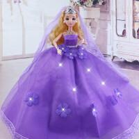 时尚婚纱芭比娃娃结婚礼物 儿童玩具女孩洋娃娃新娘公主大裙拖尾