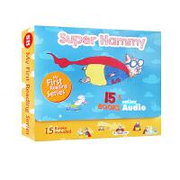 英文原版 Super Hammy 超级翰米15本附正版音频CD 2-6岁幼儿启蒙早教绘本英语故事书礼盒装生日礼物趣味阅