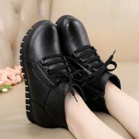 【头层牛皮】加绒保暖冬季新款中老年妈妈防滑棉鞋保暖舒适头层牛皮真皮短靴522SY