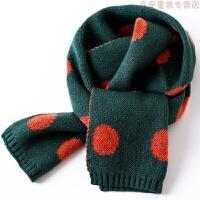 韩版秋冬季儿童围巾女童男童毛线女孩可爱宝宝加厚针织保暖围脖潮