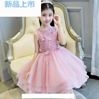 儿童礼服女童晚礼服公主裙短主持人模特走秀钢琴演出服蓬蓬裙春夏