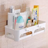 卫生间置物架壁挂吸盘浴室置物架洗手台收纳架子洗手间用品用具 置物架【一个装单层】