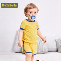 巴拉巴拉女婴套装短袖纯棉两件套夏装2018新款男宝宝短袖衣服裤子