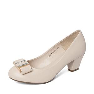 Belle/百丽春季专柜同款绵羊皮革女皮鞋3YKF3AQ6