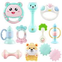 男女孩牙胶0-1岁0-3-6-12个月宝宝手摇铃玩具初