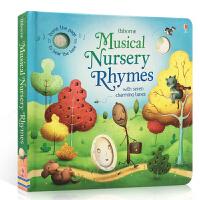 儿童英文原版绘本 Musical Nursery Rhymes 童谣伴奏纸板发声书 含7首经典欧美童谣 Usborne