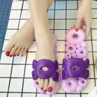夏季冲凉拖鞋男女韩国洗澡托镂空漏水速干浴室防滑软底按摩有洞洞