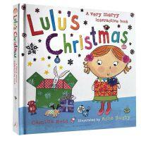 英文原版绘本 Lulu's Christmas 露露的圣诞节 精装翻翻书 Lulus系列 幼儿启蒙认知儿童趣味故事图画
