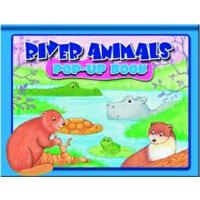 英文原版River Animals : Pop -Up Book 河流动物 儿童立体书