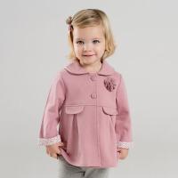 [2件3折价:48.9]戴维贝拉女童春季新款洋气宝宝大衣休闲外套DBM9441