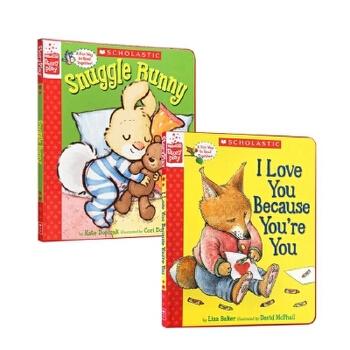 【发顺丰】英文原版 Snuggle Bunny I Love You Because You're are You 2本套装 3-6岁低幼儿童英语绘本图画书 百源国际童书城旗舰店