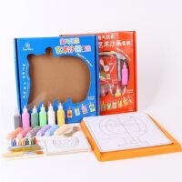 儿童玩具沙画套装手工彩沙12色砂画沙子彩砂礼盒