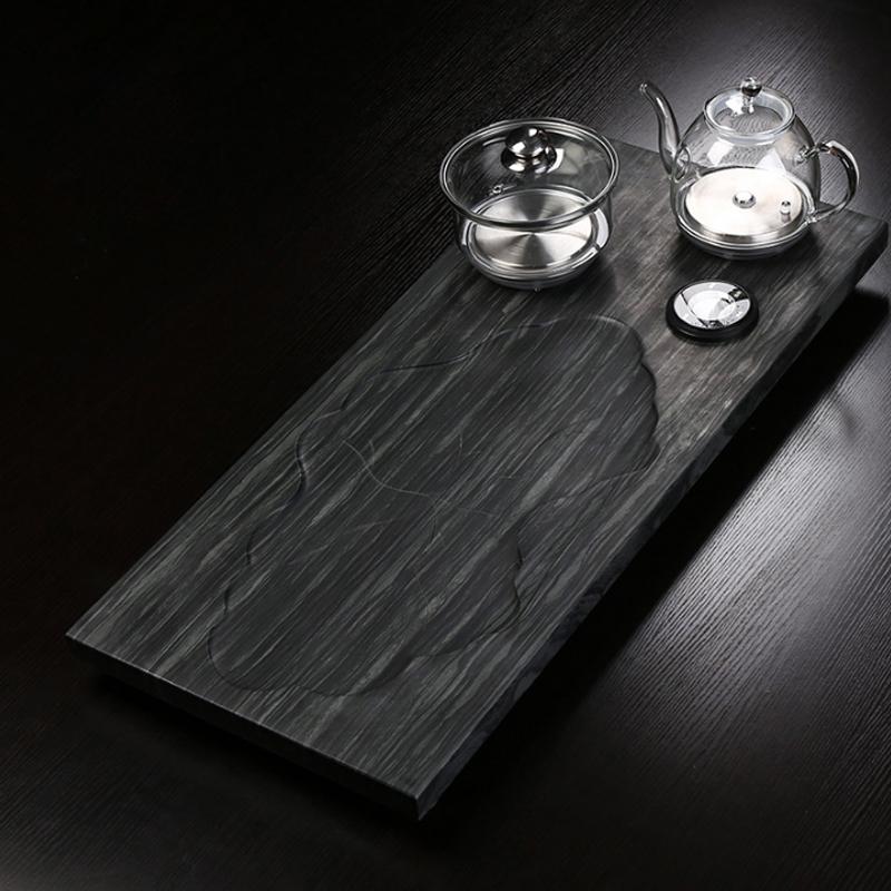 乌金石茶盘现代大号简约一体家用干泡茶台托盘功夫茶具茶艺泡茶器